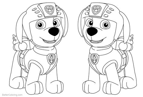 paw patrol coloring pages zuma  printable coloring pages