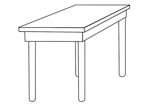 table coloring page coloring home
