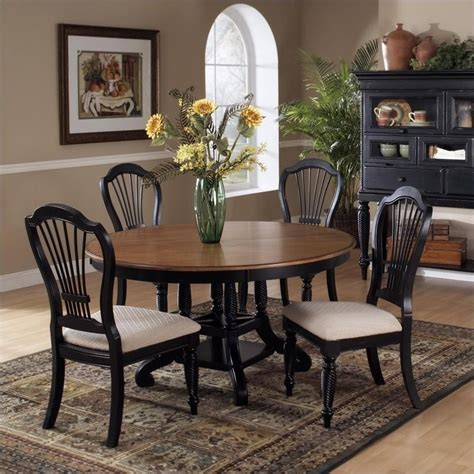 circle dining table set hillsdale wilshire 7 piece round dining table set in pine