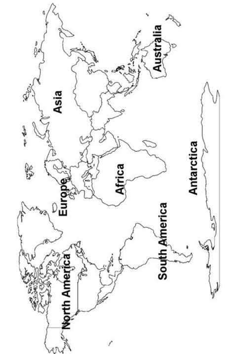 world continents map printout mappa del mondo su muro