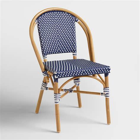 navy kaliko bistro chairs set of 2 world market