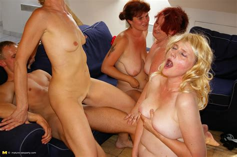 Two Blondes And Two Redheads Get Their Horny Mature Cunts