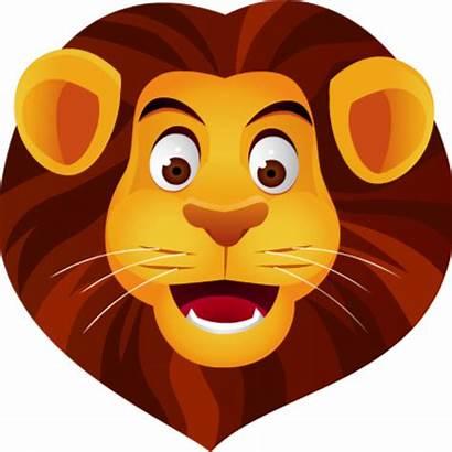 Lion Clip Head Vector Face Clipart Cartoon