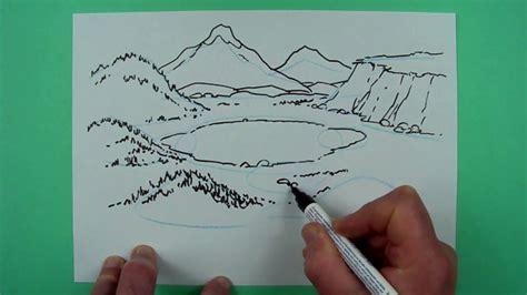 wie zeichnet man ein landschaft zeichnen fuer kinder