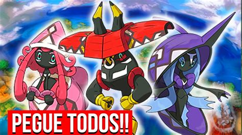 Capturado Todos Os Guardioes De Alola #25 PokÉmon Moon