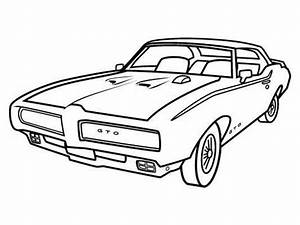 a classic pontiac muscle car coloring sheet for kids With 1968 pontiac le mans