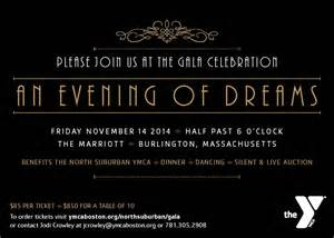 black wedding invitations ymca gala an evening of dreams studio 665