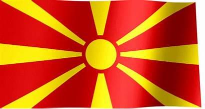 Flag Macedonia Macedonian North Sun Animated