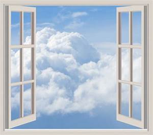Clouds Through Window Frame Free Stock Photo - Public ...