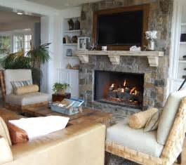 White Fireclay Farmhouse Sink by Fireplace Ideas With Stone Living Room Beach With