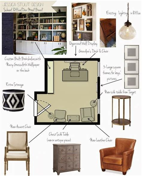home design board home office mood board with furniture layout