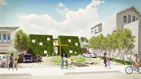 country s k 8 farm school sprouting in san 941 | golden bridges urban farm school front building rendering urbangardensweb