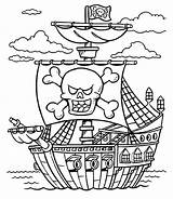 Coloring Pirate Pirates Caribbean Treasure Chest Ship Lego Printable Boat Line Adults Drawing Colorings Colouring Schooner Sheet Sheets Getcolorings Getdrawings sketch template
