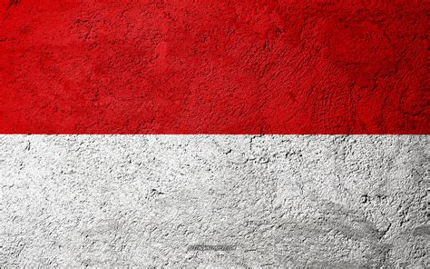 wallpapers flag  indonesia concrete texture