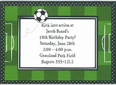 Birthday Invites Awesome Birthday Soccer Party