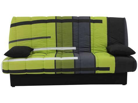 canape clic clac conforama banquette clic clac en tissu motif vert vente de