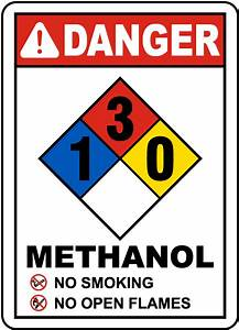 Nfpa Methanol 1-3-0 Sign M3347