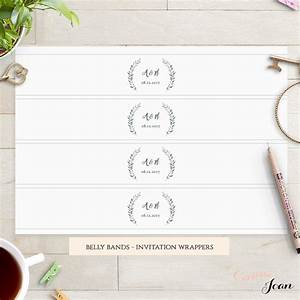 rustic belly band wedding invitation belly band template With free wedding invitation belly band template