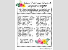 Sweet Blessings June Scripture Writing Plan Who I am in