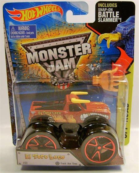 wheels monster jam truck el toro loco bull truck monster jam truck diecast