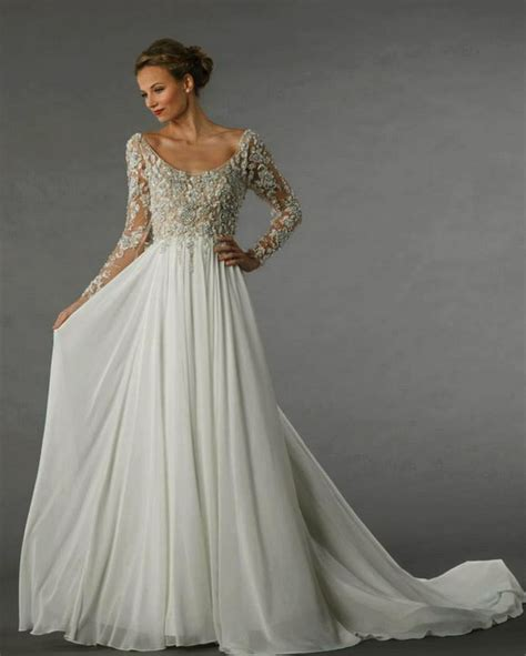 long sleeve wedding dress intricate beaded lacy top