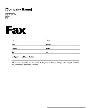 fax cover sheet template  fax cover letter ws