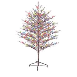 shop ge pre lit tree tree with constant multicolor led lights at lowes