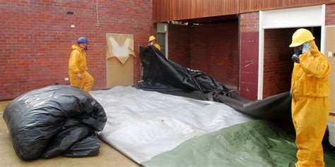 removal  friable asbestos insulation board aib