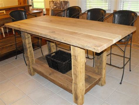 wood kitchen island legs 3 39 x5 39 counter height kitchen island with hewn legs