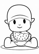 Watermelon Pocoyo Coloring Eating Pages Slice Colouring Printable Melon Drawing Water Super Getcolorings Pato Getdrawings Luna Getcoloringpages sketch template