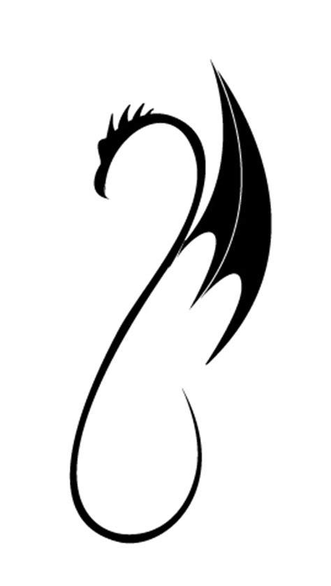 black  tattoo simple dragon tattoo