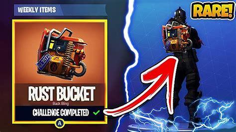 claim  fortnite rust bucket backpack bling