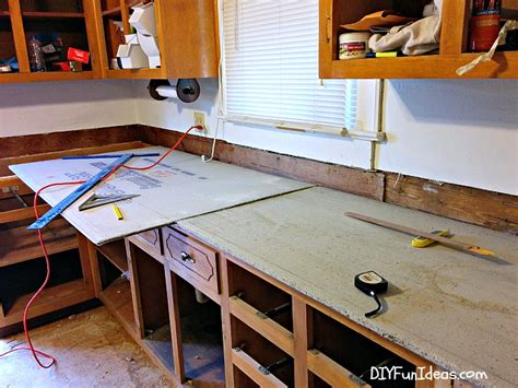Cast In Place Concrete Countertop by How To Make Diy Cast In Place White Concrete Countertops