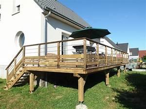 la terrasse sur pilotis misterbois With terrasse en bois sur piloti
