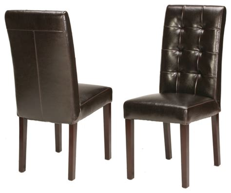 Genuine Leather Tufted Dining Chair  Traditional  Dining. Ideas For Your Room. Cheap Decorating Ideas For Wedding Reception Tables. Tv Room Furniture. Living Room Center Table. Western Living Room Decor. Egyptian Bedroom Decor. Disney Frozen Room Decor. Decorative World Map