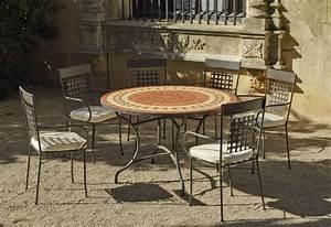 Tables Rondes De Jardin : table de jardin ronde et fauteuils lorny vigo ~ Premium-room.com Idées de Décoration