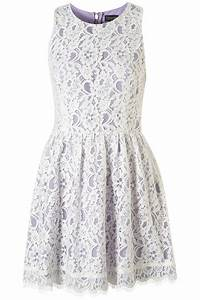 Topshop Sleeveless Lace Dress in Purple | Lyst