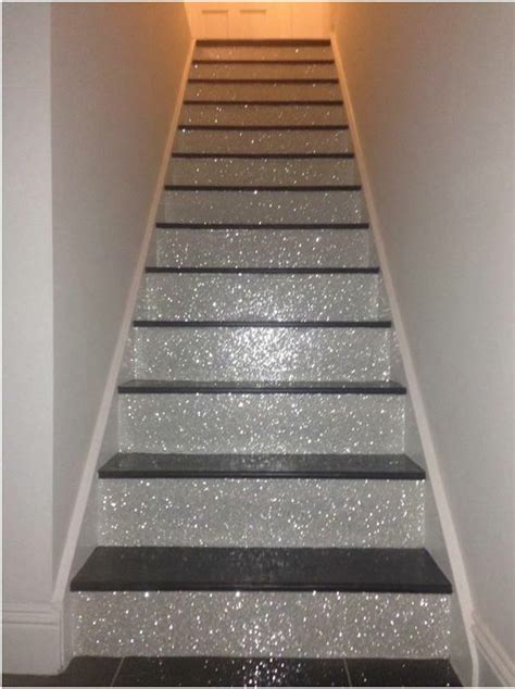 glitter stairs home