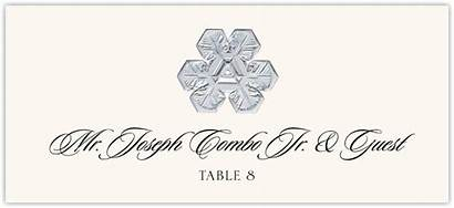 Snowflake Assortment Place Cards Winter
