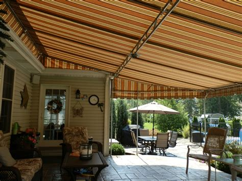 residential patio awnings custom covers and canvas