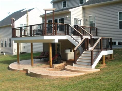 a patio the deck genius would prefer to a flight of steps as well as a