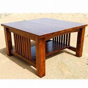 solid wood mission style square coffee table furniture With mission style square coffee table
