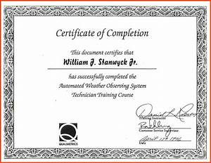 certificate of completion template program format With certificate of accomplishment template