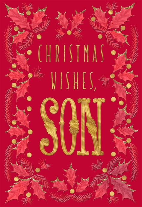 son  wishes christmas card greeting cards hallmark