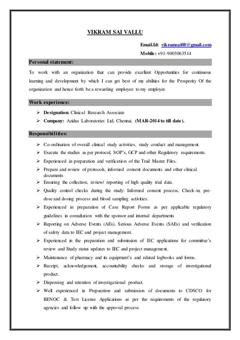resume m pharmacy pharmacology with 2 years and