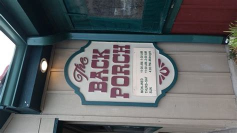 Back Porch Saloon by Back Porch Saloon West Chester Menu Prices