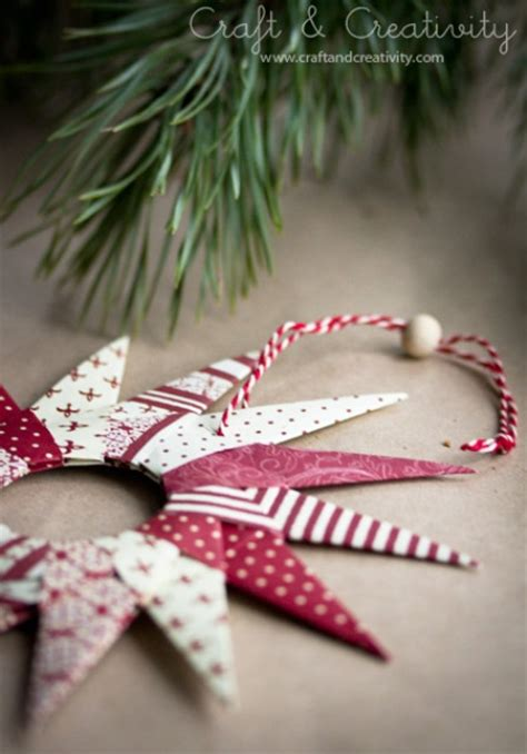 original diy origami paper stars  christmas decor