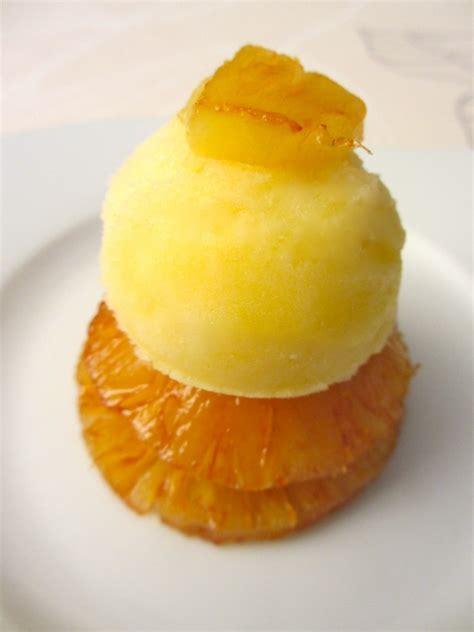 dessert a l ananas frais ananas r 244 ti et sorbet frais diet d 233 lices recettes diet 233 tiques