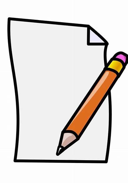Ecrire Pencil Paper Cartoon Transparent Clipart Background