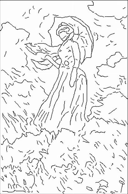 Famous Paintings Coloring Pages Degas Painters Edgar